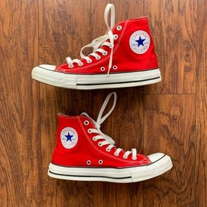 Converse Chuck Taylors High Top Red W9 M7